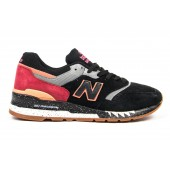 Кроссовки New Balance suede black-red
