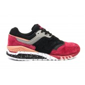 Кроссовки New Balance suede red-black