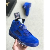 Nike Air JORDAN 5 Retro Blue Suede